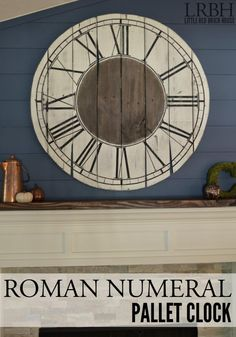 How to Build a Roman Numeral Pallet Clock - Add a rustic touch to your home with this shipping pallet DIY! It's super easy and you can adapt the instructions to whatever size you'd like.
