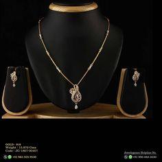 Gold Chain Design, Gold Ring Designs, Diamond Drop Earrings, Baby Earrings, Diamond Pendant, Fancy Jewellery, Jewellery Designs, Gold Jewelry Simple, Fine Jewelry