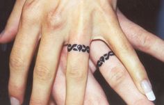 Did you ever imagine your eternal love exists on the ring that can not be lost or stolen?, wedding ring tattoo is the answer.