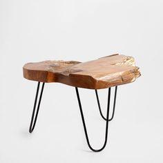 TABLE TECK DORÉE - Meubles d'Appoint | Zara Home France