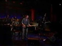 """Bruce Springsteen& the E Street Band on David Letterman """"The Rising"""""""
