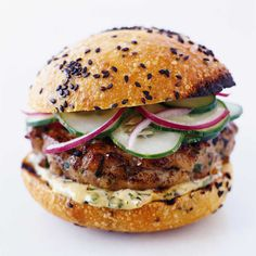 Obviously, fatty beef hamburgers rule. 1. Sweet Potato-Veggie Burgers with Avocado kblog.lunchboxbunch.com Get the recipe 2. Big Veg Quinoa Burger [...]