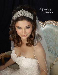 Symphony Bridal 7321CR Regal Rhinestone Wedding Tiara www.affordableelegancebridal.com