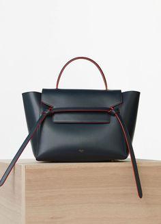 Mini Belt Bag in Calfskin Satin - Céline