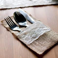 Pas cher 10 pcs Naturel Jute Toile De Jute Couverts Titulaires Emballage Fourchette et Couteau pour Weddin,…