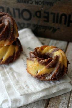 Chocolate Orange Mini Bundt Cakes #recipe