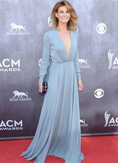 Faith Hill was among the best dressed on the red carpet at the 2014 Academy of Country Music Awards in a beautiful long sleeve dress.
