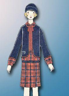 1920s Original Cute Unused Little Girls Flapper Dress Bolero Pattern | eBay