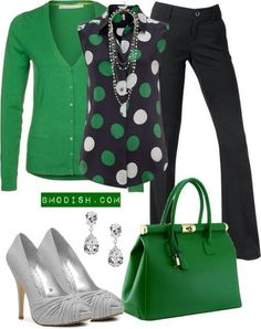 Green! Perfect for teachers! I would have cute flats to go along with that