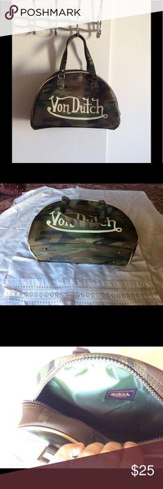 Von Dutch handbag It's a medium camouflage Von Dutch flag. Completely new, unused, just no tags. Von Dutch Bags Totes