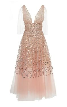 Tulle Tea Length Gown by Oscar de la Renta Resort 2019