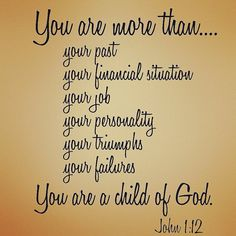 Yes, I am a child of God!