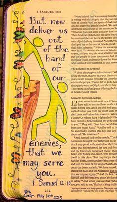 Easy Bible Art Journaling Journey: 1 Samuel (May Esv Bible, Faith Bible, Scripture Verses, Bible Art, Bible Scriptures, Bible Drawing, Bible Doodling, Samuel Bible, 2 Samuel