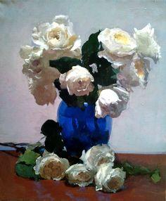 Por amor al arte: Dennis Perrin Painting Still Life, Still Life Art, Rose Oil Painting, Painting & Drawing, Great Paintings, Beautiful Paintings, Flower Paintings, Art Floral, Still Life Flowers