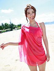 女性のセクシーなスリーピース赤ビキニビーチカバーアップ – JPY ¥ 3,076