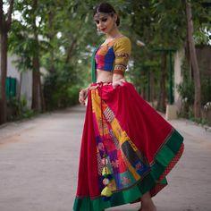 Garba Dress, Navratri Dress, Choli Dress, Anarkali Dress, Ethnic Fashion, Indian Fashion, Dandiya Dress, Chanya Choli, Bridal Lehenga Collection