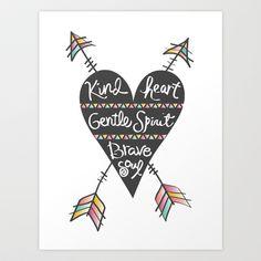 Kind-Gentle-Brave+Art+Print+by+Bohemian+Gypsy+Jane+-+$14.48