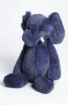 Free shipping and returns on Jellycat 'Bashful Elephant' Stuffed Animal at Nordstrom.com. A shy stuffed elephant is extra soft and perfect for snuggling.