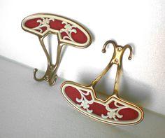 Two italian brass coat hanger vintage 50s antique by KabubaStore