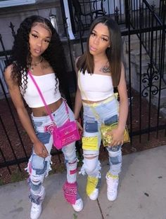Swag Outfits For Girls, Cute Swag Outfits, Teen Fashion Outfits, Teenager Outfits, Girl Outfits, Matching Outfits Best Friend, Best Friend Outfits, Go Best Friend, Cute Birthday Outfits