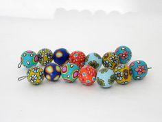 Polymer Clay Perlen - Designer Perlen aus Polymer clay 17 mm Fimo - ein Designerstück von filigran-Design bei DaWanda