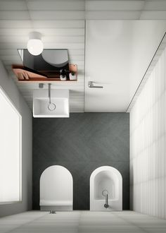 A trip to 5 metropolitan areas in which the space dedicated to the bathroom is reduced to the bone. We're delighted to show you that with GSI's solutions you won't have to give up any comfort. Elle Decor, Small Apartments, Small Bathroom, Bathrooms, Powder Room, Bad, Diy Bedroom Decor, New Homes, House Design