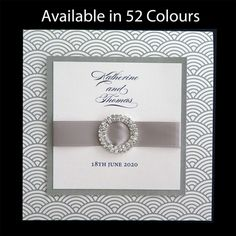These original wedding invitations are printed with a wave pattern which is available in more than 50 colours. www.kardella.com Wedding Card Messages, Wedding Wishes, Wedding Cards, Diy Wedding, Wedding Table, Wedding Reception, Lace Wedding, Wedding Speeches, Wedding Music