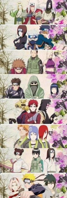 If you could build your own trio team from any characters in the series, who would you pick? I'm sure everyone would pick Kakashi, Naruto, and Sasuke but I choose Shikamaru, Neji and Gaara. And sometimes i feel like naruto Sasuke Sakura, Naruto Uzumaki, Gaara, Anime Naruto, Manga Anime, Shikamaru, Naruto Art, Naruhina, Manga Comics