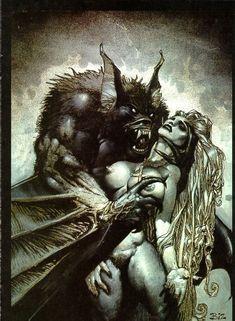 simon bisley gallery | Vampire bat - Simon Bisley Gallery.com