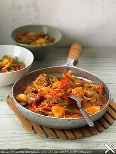 Schweinefleisch süß - sauer, ein schmackhaftes Rezept aus der Kategorie Chinesisch. Bewertungen: 62. Durchschnitt: Ø 4,3.