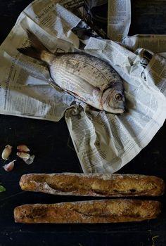 Call of the sea - Garden Daurade - thyme, lemon zest, garlic, spring onion, garlic.