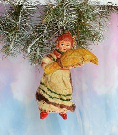 Weinlese Weihnachten Spielzeug aus Pappmaché 1950s #Weihnachtsschmuck…