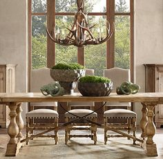 dining room design ideas dining room decoration solid wood table antler chandelier