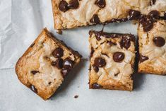 Brown Butter Earl Grey Chocolate Chip Cookie Bars |Olive & Mango