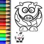 Eine Kuh zum ausmalen - http://babyduda.com/ausmalbilder-verruckte-tiere-auf-dem-bauernhof/