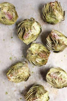 Basil Brushed Roasted Artichokes | With Food + Love