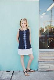 Tween Fashion Blue Batik Sheath Dress from Spring Summer 2014 Collection. Photo @Silje Glefjell