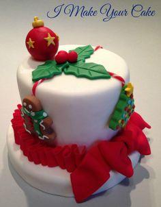 Simply Christmas - by SosiP @ CakesDecor.com - cake decorating website