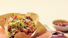 TORTILLA TACO SALAD *Oven. http://www.pillsbury.com/recipes/tortilla-taco-salad/49f5cff2-5c8b-4fc4-9b5a-3932aeb7ccdd