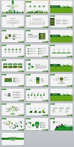 2017 Best Green Plan Powerpoint Template – The highest quality PowerPoint Templates and Keynote Temp Web Design, Slide Design, Plan Design, Design Layouts, Graphic Design, Powerpoint Design Templates, Keynote Template, Booklet Design, Flyer Template