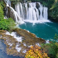 Ment to stay for 10 minutes here stayed for an hour. Martin Brod waterfalls in Bosnia [OC] [3000x2000] #arya #love