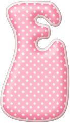 Alfabeto gordinho , rosa com bolinhas brancas | Visite o novo blog: http://coisasdepro.blogspot.com.br/