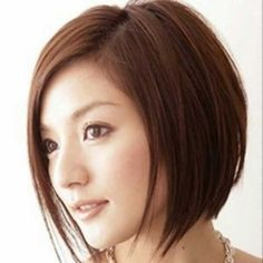 Straight Bob Hairstyle for Oval Face