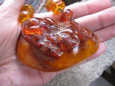 Genuine Natural Baltic amber 128 gr red yellow BIG by ambergems93