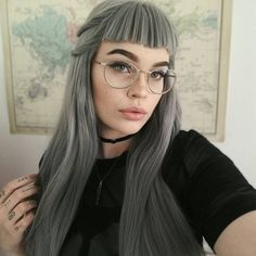 From customer's lovesee our sweet customer @pandabook restyled her Dark Grey wig.Do you love this onegirls?wig sku:edw1042 Use Coupon Code: INS to get 10% Off on your order. http://ift.tt/2lPUsf3