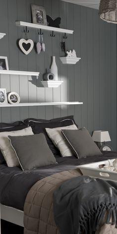 Inspiratie beeld. Grijs slapen #grijs #grey #home