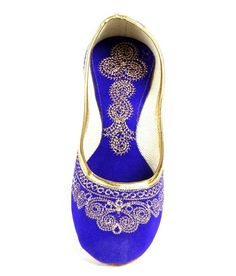 Do Bhai ShoeBazaar Blue Punjabi Jutti