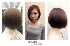 彰化 INN salon  design by Edison 。灰霧紫 。短髮BOB造型。  為你打造專屬個人風格造型 ☎️04-7282820