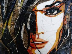 Mosaic Artwork, Mosaic Wall Art, Tile Art, Mosaic Tiles, Mosaic Portrait, Abstract Portrait, Abstract Faces, Puzzle Art, Stained Glass