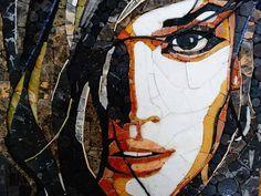 Mosaic Portrait, Abstract Portrait, Tile Art, Mosaic Tiles, Mosaic Artwork, Puzzle Art, App, Painting, Handmade